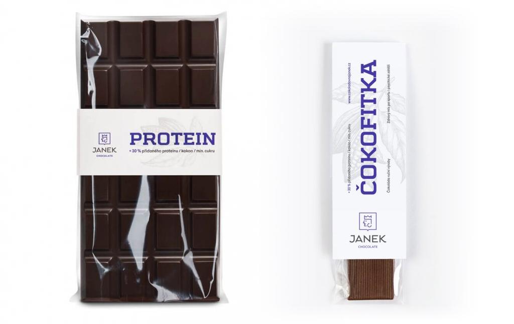 proteinová čokoládová tyčinka