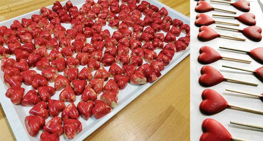 valentynska cokolada srdce