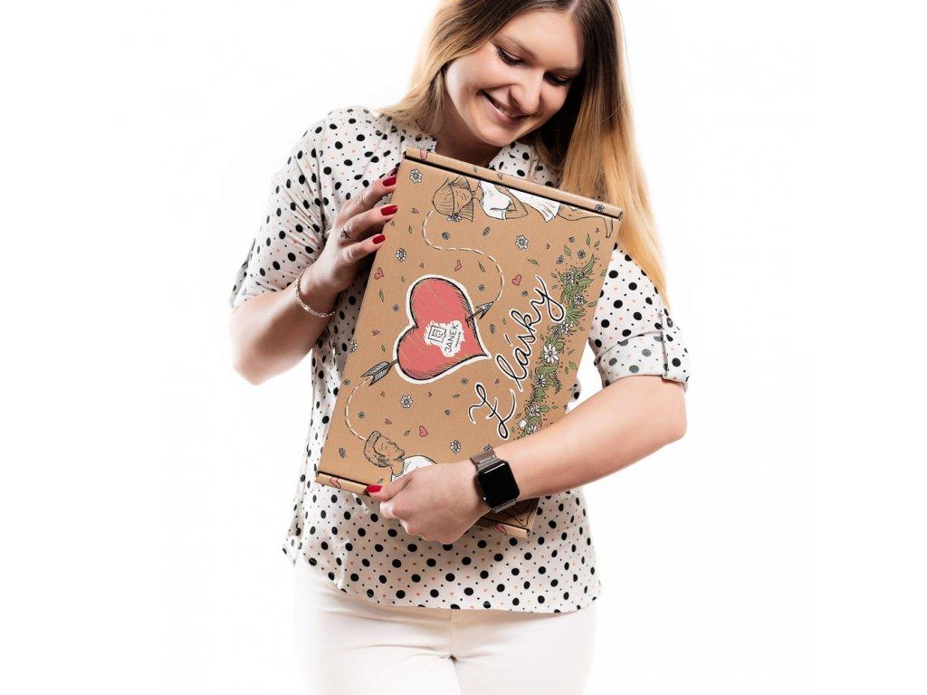 darkovy box z lasky s drevitou vlnou