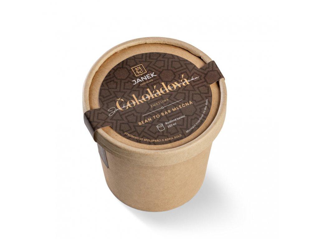 cokoladova zmrzlina mlecna velka 350ml cokoladovna janek