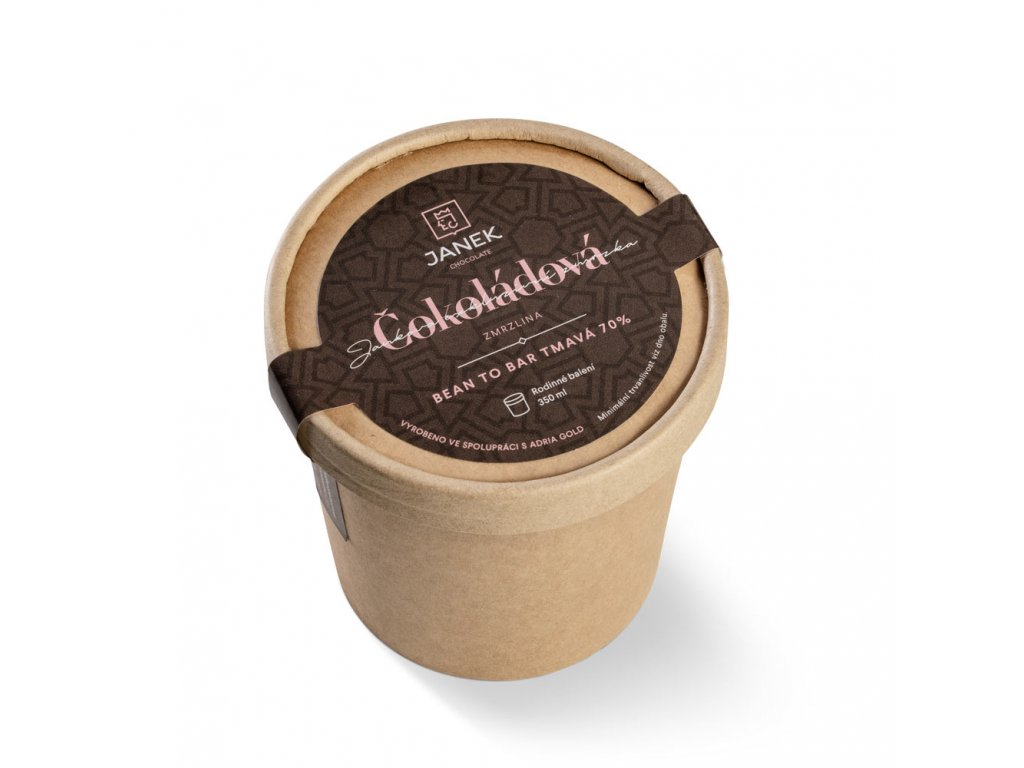 cokoladova zmrzlina bean to bar velka tmava 70% cokoladovna janek