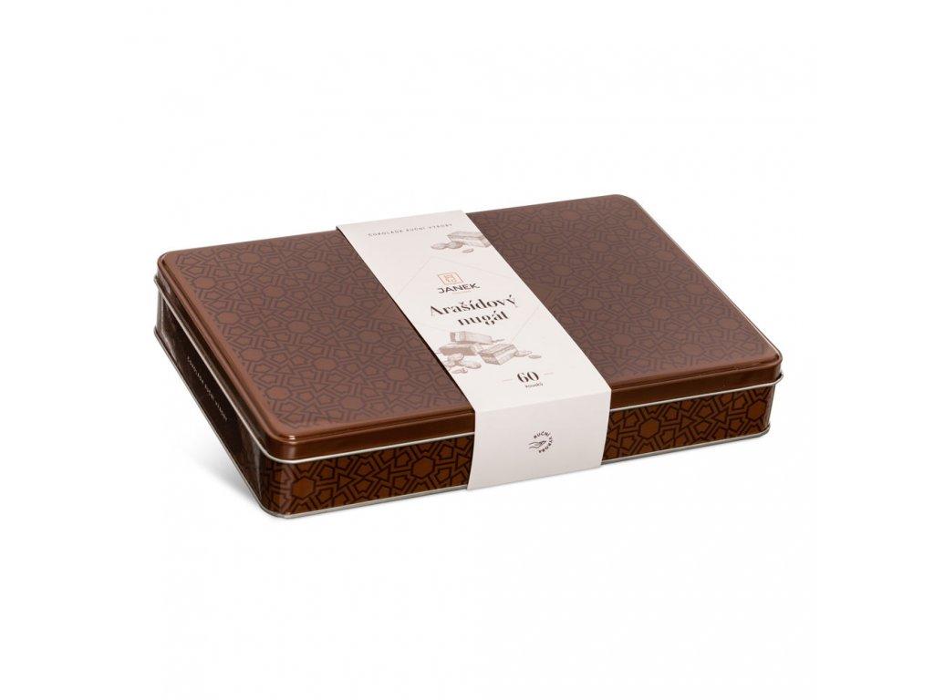 plechova krabicka nugat arasidovy nejlepsi cokolada cokoladovna janek