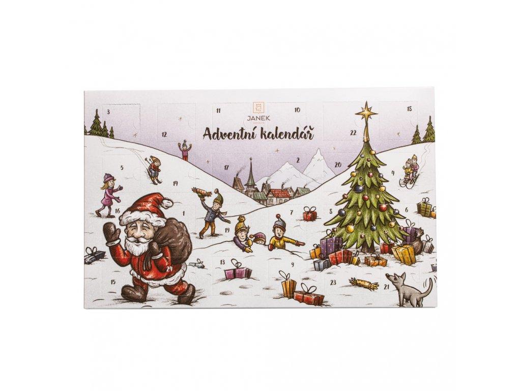 adventni kalendar detsky maly 24 policek advent cokoladovna janek