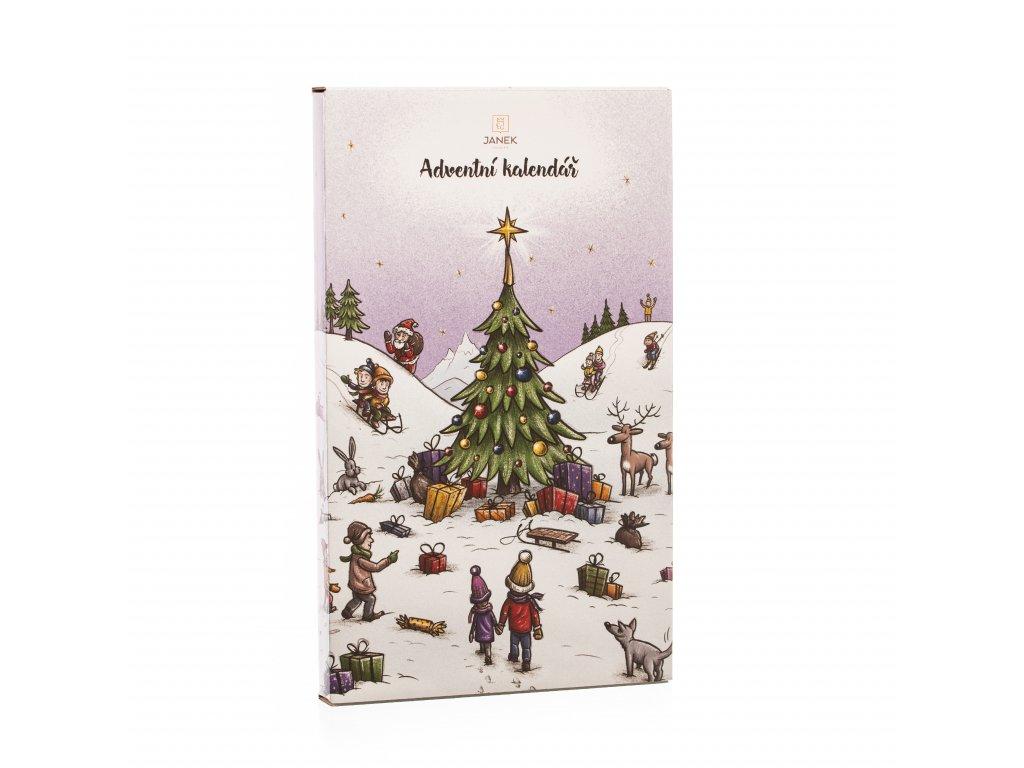 Velký dětský čokoládový adventní kalendář