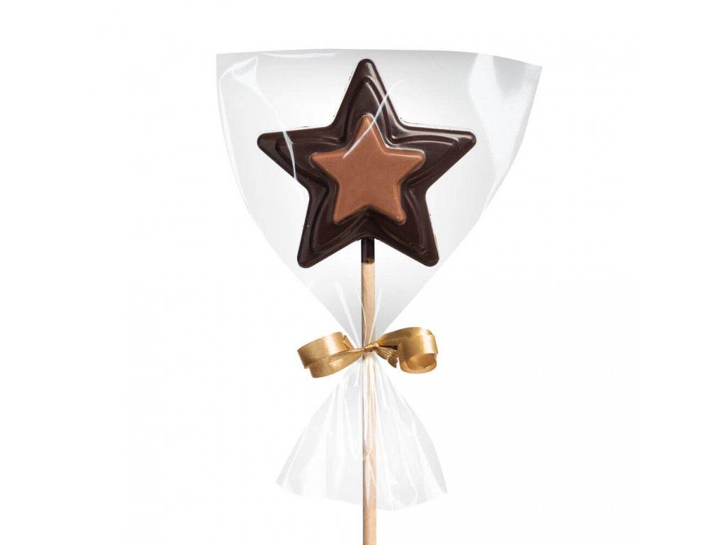 domaci cokoladove lizatko hvezda horke mlecne cokoladovna janek.jpg