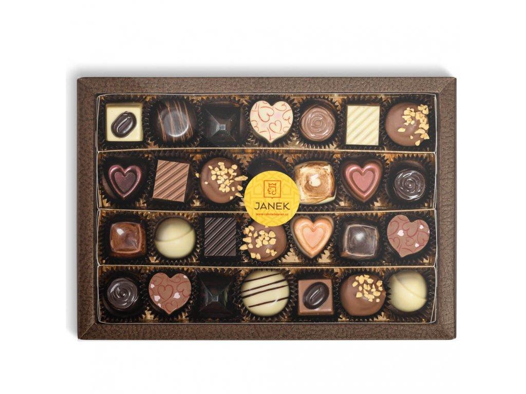 krabicka 28 ks cokoladovych pralinek v obale cokoladovna janek.jpg