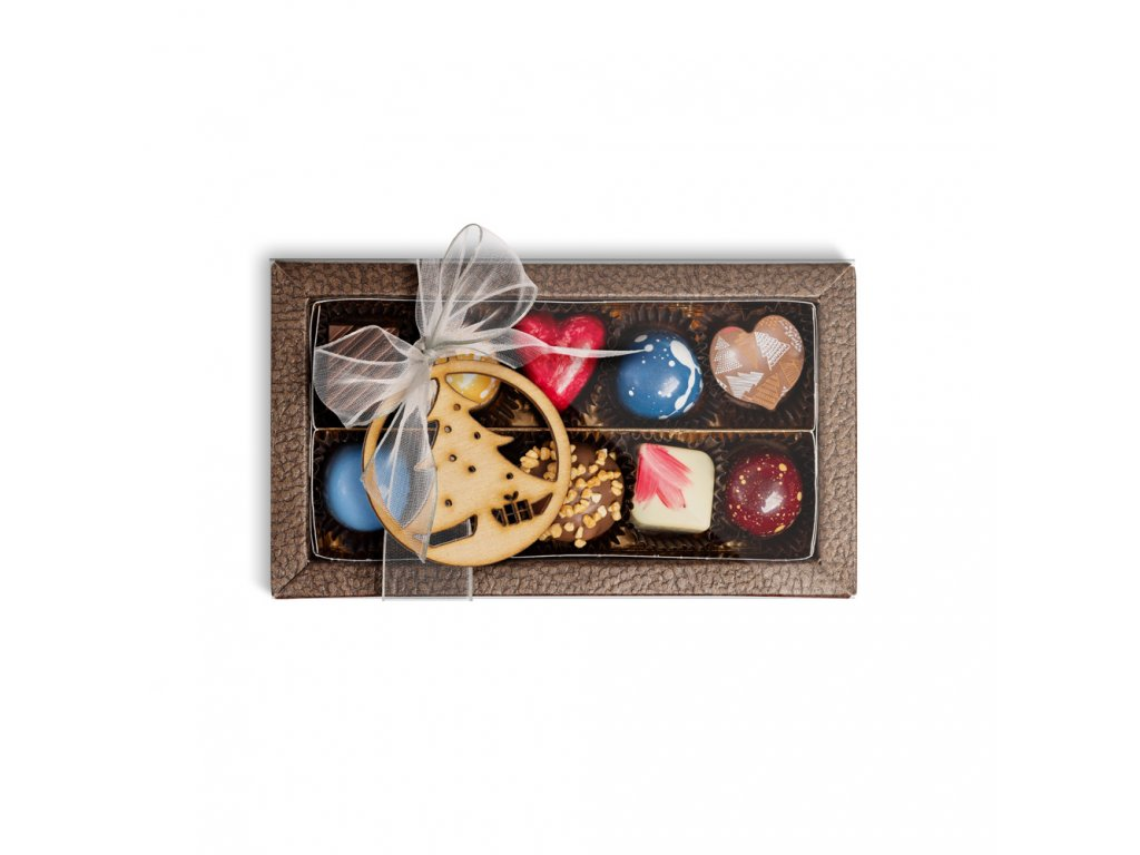 darkova krabicka pralinek vanocni 10 kusu cokoladovna janek darek.jpg
