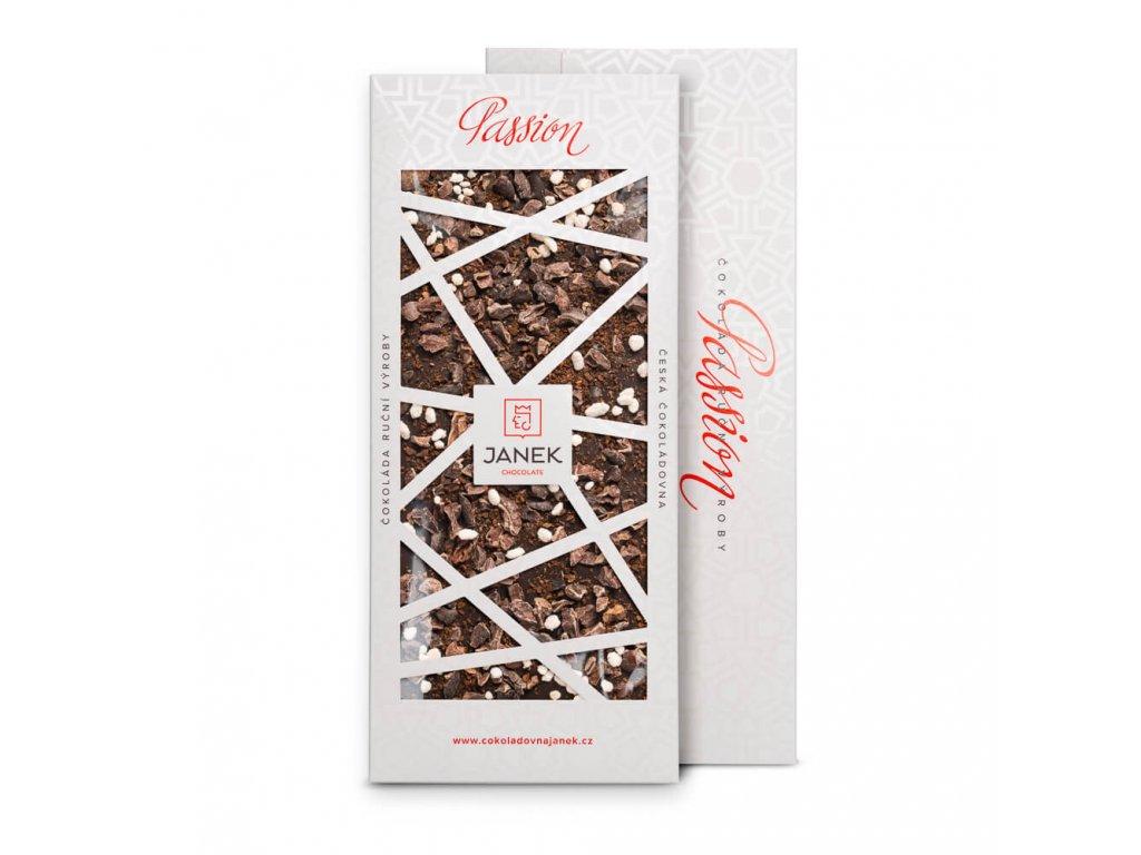 tabulka horke cokolady passion 72 procent s kavou jasminem kakaovymi boby cokoladovna janek