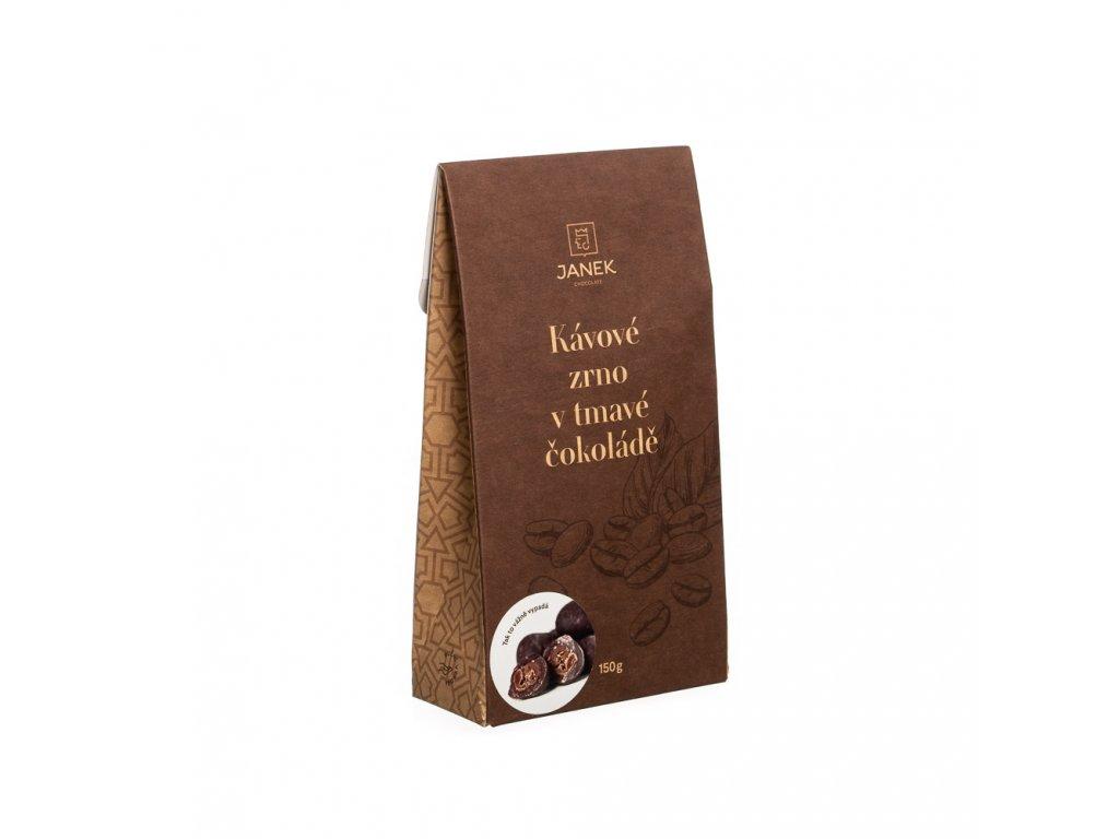 kavove zrno v tmave cokolade krabicka cokoladovna janek