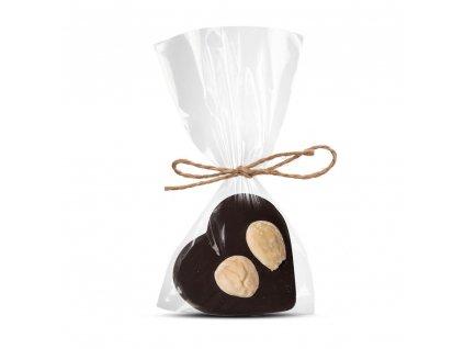 horke cokoladove srdicko 64 procent s madli cokoladovna janek