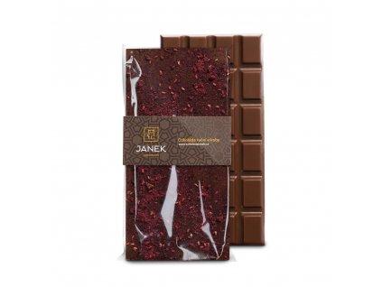tabulka mlecne cokolady s malinou a ostruzinou cokoladovna janek.jpg