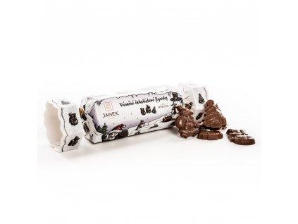cokoladovy vanocni bonbon s mlecnymi figurkami cokolada cokoladovna janek