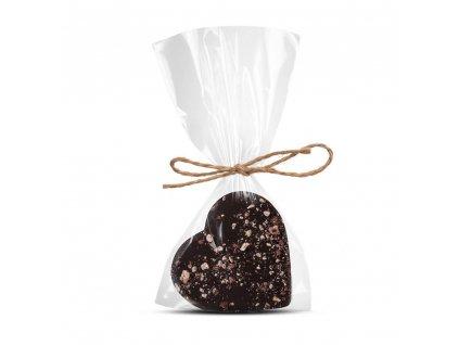 horke cokoladove srdicko 64 procent s liskovym orechem a ostruzinou cokoladovna janek