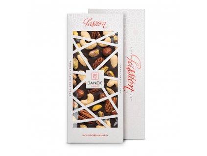 tabulka horke cokolady passion 72 procent orechy cokoladovna janek