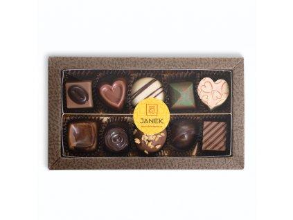 krabicka 10 ks cokoladovych pralinek v obale cokoladovna janek.jpg