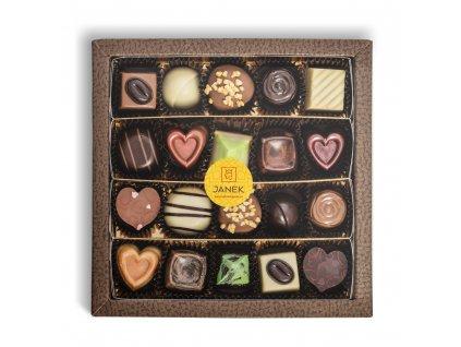 krabicka 20 ks cokoladovych pralinek v obale cokoladovna janek.jpg