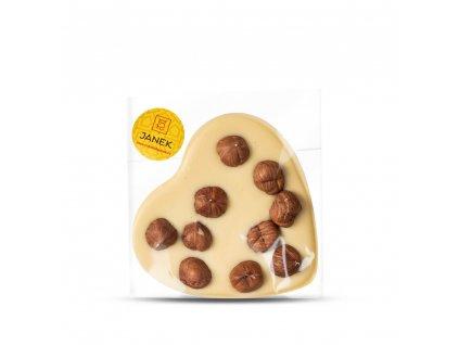 bile cokoladove srdce s liskovymi orechy cokoladovna janek