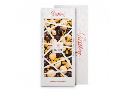 tabulka horke cokolady passion 72 procent s pomerancem makadamovymi orechy mandlemi rybizem cokoladovna janek.jpg