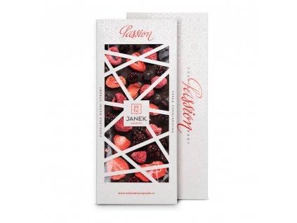 tabulka horke cokolady passion 72 procent s lyofilizovanym ovocem cokoladovna janek.jpg
