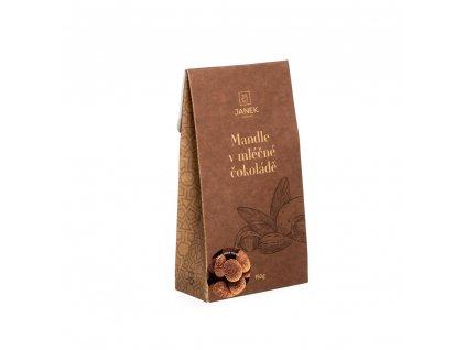 mandle v mlecne cokolade se skorici krabicka cokoladovna janek