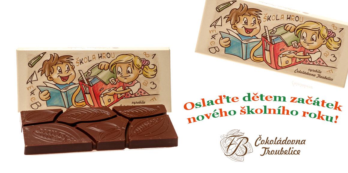 čokoláda školáci