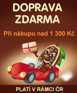 Dopravné zdarma nad 1300 Kč