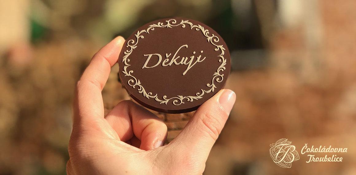 Děkuji čokoláda