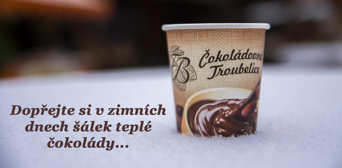 Teplá čokoláda zima
