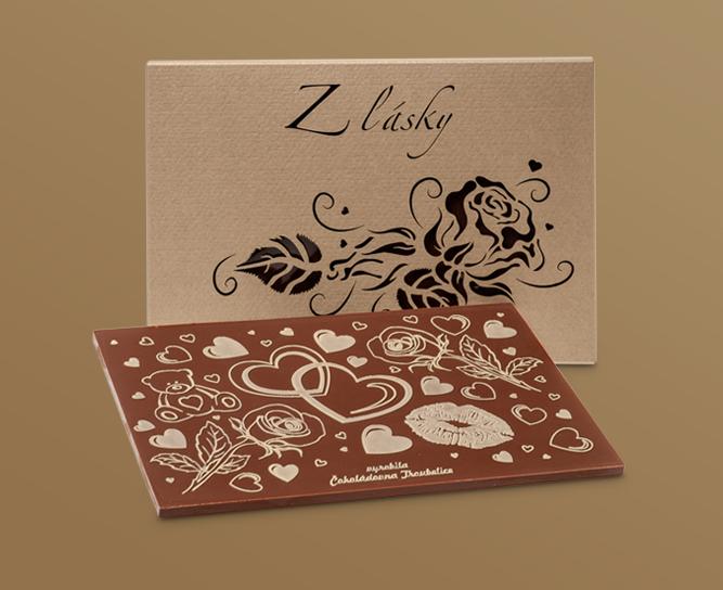 Tematické čokolády s reliéfem