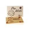 """Velká čokoláda """"Pro štěstí"""" - perleťový obal, 120 g, Čokoládovna Troubelice"""