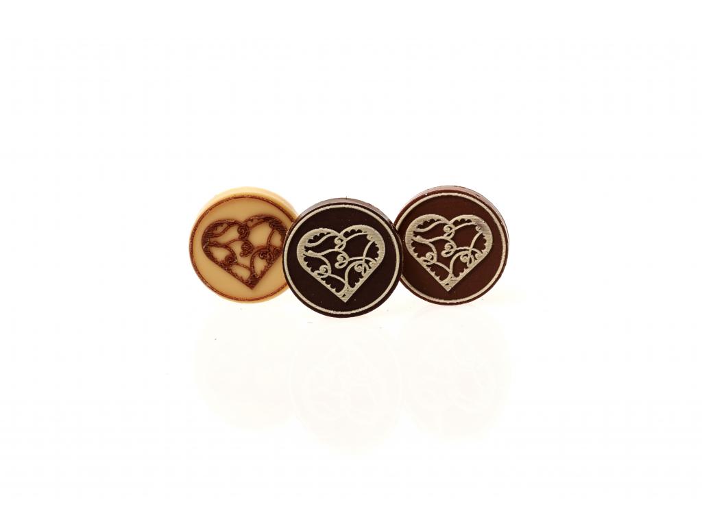Čokoládové kolečko - SRDCE 1, (5g)
