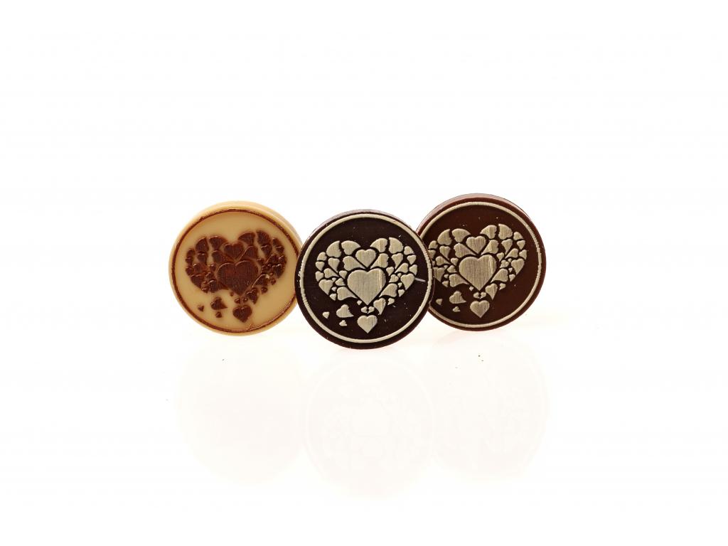 Čokoládové kolečko - SRDCE 2, 5g