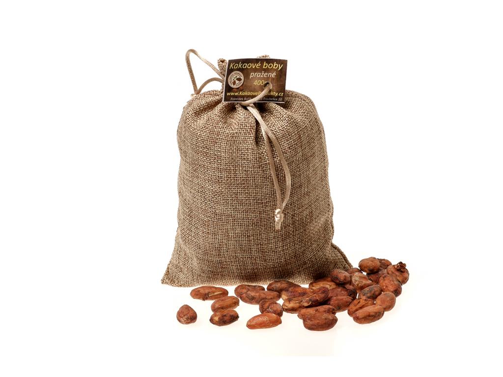 Kakaové boby v jutovém pytlíku, 400g, Čokoládovna Troubelice