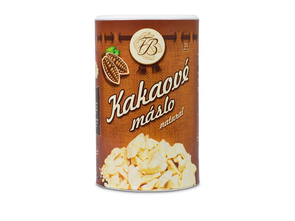 Kakaové máslo natural, dóza 500g, Čokoládovna Troubelice