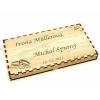 Dřevěná kazeta mix čokolád - svatební motiv, Čokoládovna Troubelice