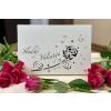 valentýn obal růže + bílá čoko