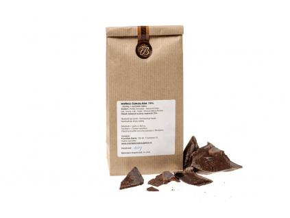 Hořká čokoláda 75%, zlomky