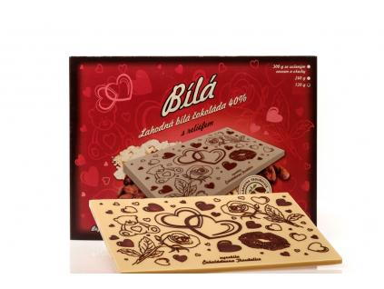 """Velká čokoláda s reliéfem """"ZE SRDCE"""", 240 g"""