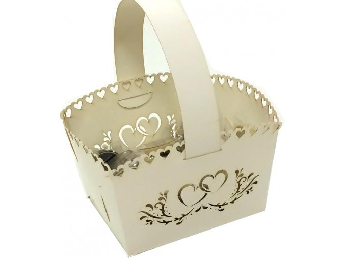 Papírový košíček svatební