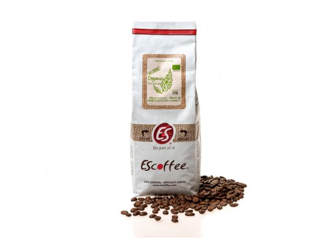 Káva Escoffee ORGANIC zrnková, 400g