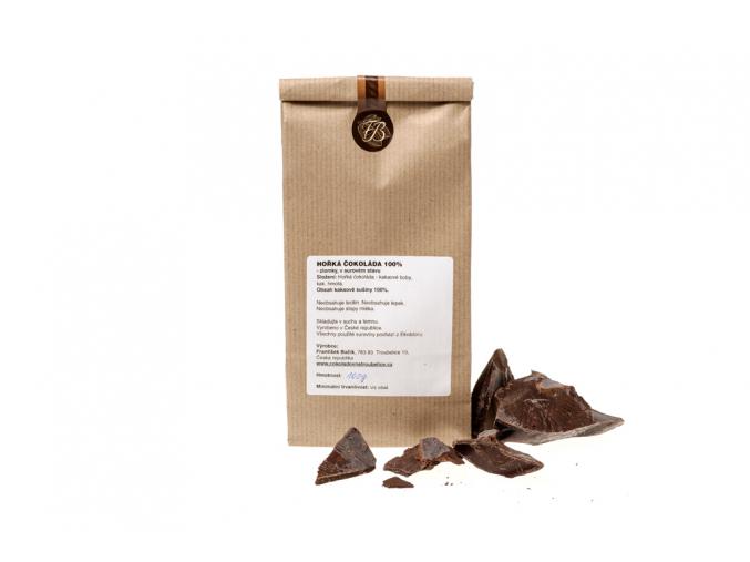 Hořká čokoláda 100%, zlomky