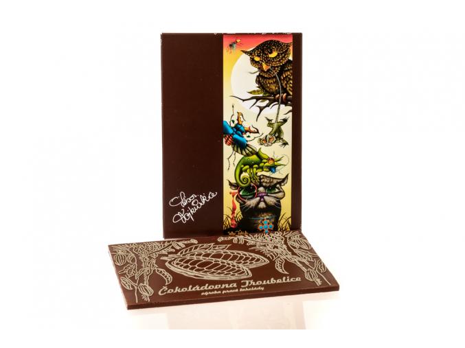 """Čokoláda s motivem L. Vojkůvky """"Kocour Fanfán"""", 120g"""