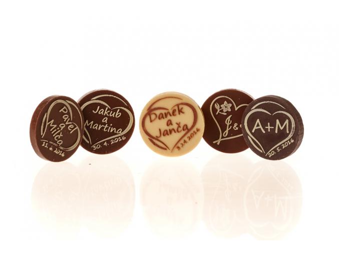 Čokoládové kolečko s vlastní grafikou