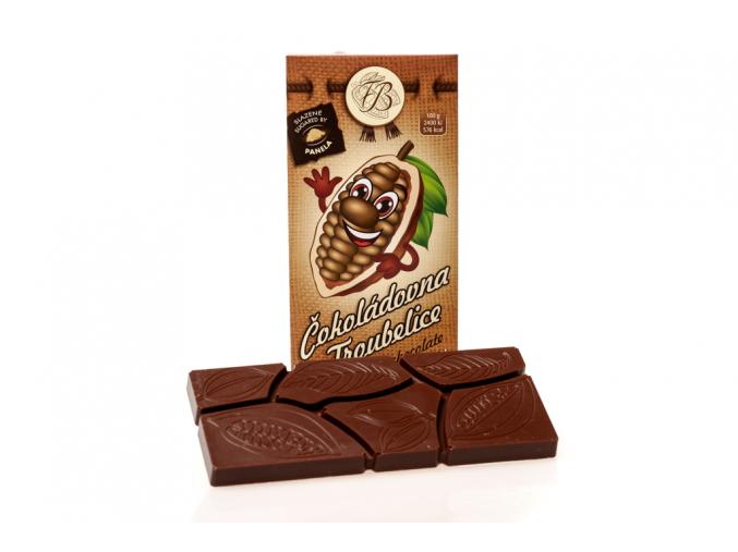Čokoláda mléčná 40%, 45 g, Čokoládovna Troubelice