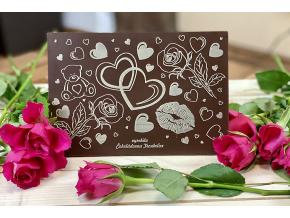 valentýn obal růže + čoko