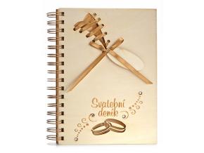 Svatební deník prstýnky, A5