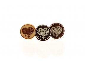 Čokoládové kolečko - SRDCE 2, (5g)
