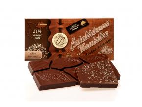 Čokoláda mléčná 51% s CHIA SEMÍNKY, 45 g, Čokoládovna Troubelice