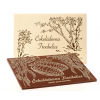 Dřevěná kazeta s čokoládou - vlastní motiv, Čokoládovna Troubelice