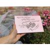 kazeta svatba růžová srdíčka